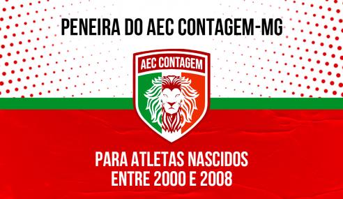 AEC Contagem-MG realizará peneira com semana de avaliação