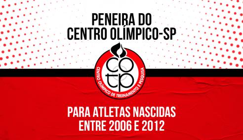 Centro Olímpico-SP realizará peneira na próxima semana