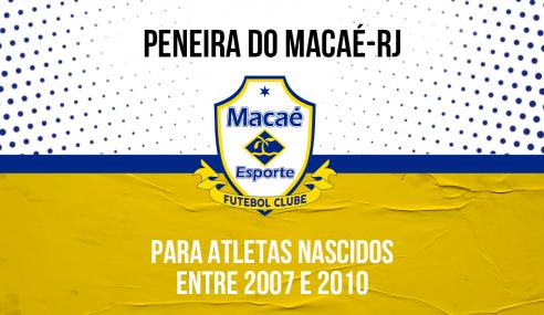 Macaé Esporte-RJ realizará peneira para quatro categorias