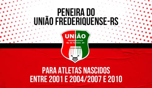 União Frederiquense-RS realizará peneira para três categorias