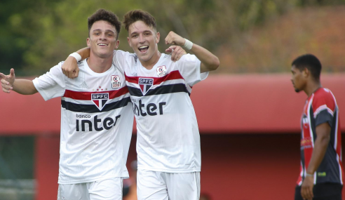 São Paulo goleia River-PI e se aproxima das semifinais da Copa do Brasil Sub-17