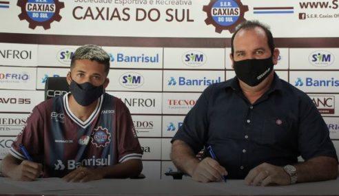Caxias-RS anuncia atacante de 22 anos como primeiro reforço de 2021