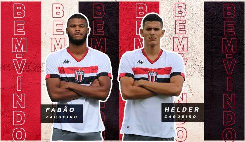 Botafogo-SP confirma a chegada de dois jovens zagueiros