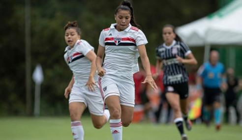 São Paulo vence Avaí Kindermann e fica perto das semifinais do Brasileirão Feminino Sub-18