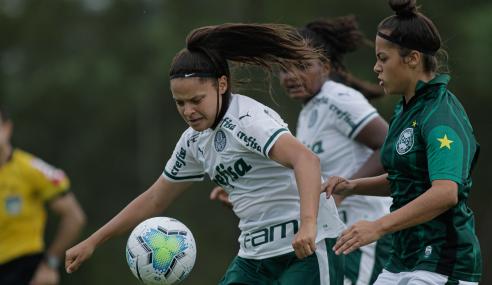 Em jogo de sete gols, Palmeiras goleia Toledo/Coritiba pelo Brasileirão Feminino Sub-18