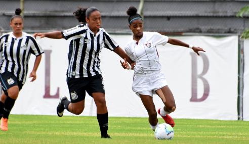 Fluminense e Santos empatam na ida das semifinais do Brasileirão Feminino Sub-18