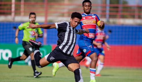 Ceará vence Clássico-Rei e Floresta massacra na segunda rodada do Cearense Sub-20