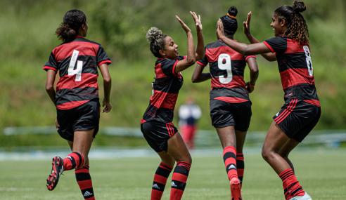 Flamengo vence e tira as chances de classificação do Fortaleza no Brasileirão Feminino Sub-18