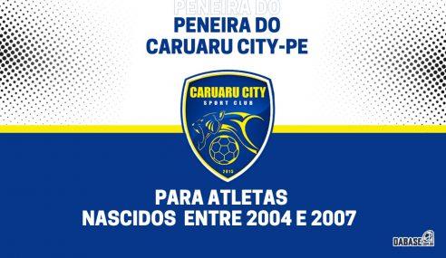 Caruaru City-PE realizará peneira para duas categorias