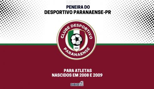 Desportivo Paranaense-PR tem inscrições abertas para peneira no sub-13