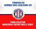Grêmio São-Carlense-SP realizará peneira para a equipe sub-20