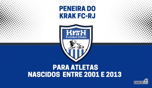 Krak FC-RJ realizará peneira para seis categorias