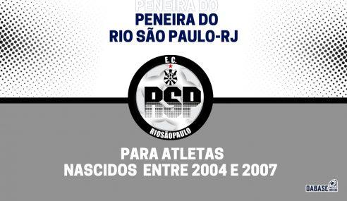 Rio São Paulo-RJ realizará peneira para duas categorias