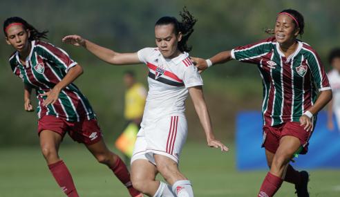 Com gol de pênalti no fim, São Paulo vence Fluminense pelo Brasileirão Feminino Sub-18