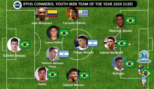 Sete brasileiros aparecem na seleção sul-americana divulgada pela IFFHS