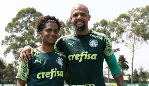 Filho de Felipe Melo deixa o Palmeiras