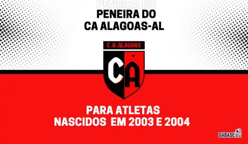 CA Alagoas-AL realizará peneira para a equipe sub-18