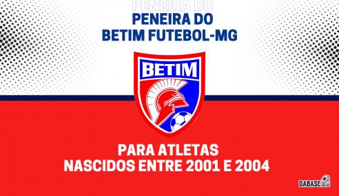 Betim Futebol-MG realizará peneira para a equipe sub-20