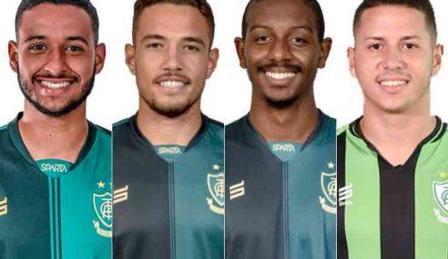 América-MG anuncia empréstimo de quatro jogadores do seu elenco principal