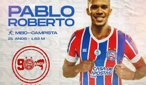 Bahia anuncia contratação de meio-campista do Vila Nova