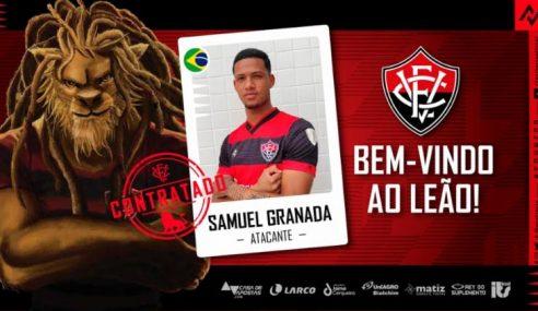 Atacante do Fluminense é anunciado oficialmente como reforço do Vitória