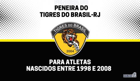 Tigres do Brasil-RJ abre inscrições de peneira para quatro categorias