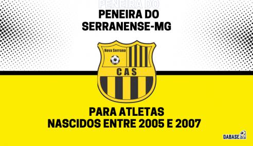 Serranense-MG realizará peneira para três categorias