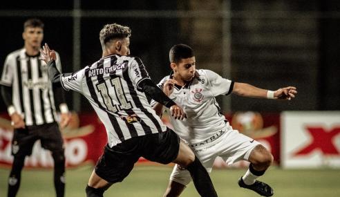 Atlético-MG e Corinthians ficam no 0 a  0 e seguem empatados no Brasileirão Sub-17