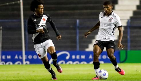 Corinthians sai atrás, mas busca empate com o Vasco pelo Brasileirão Sub-17