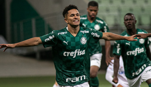 Gabriel Silva faz dois e coloca Palmeiras nas quartas da Copa do Brasil Sub-20