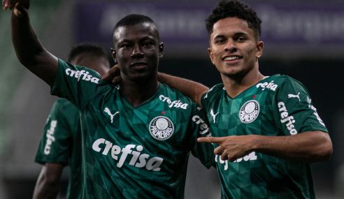 Sem sustos, Palmeiras goleia Náutico na ida das oitavas da Copa do Brasil Sub-20
