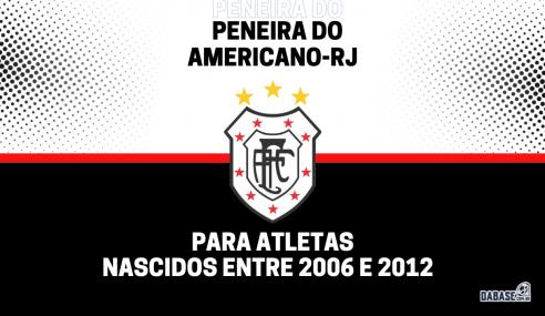 Americano-RJ realizará peneira para quatro categorias
