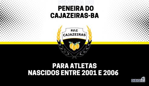 Cajazeiras-BA realizará nova peneira para o time sub-20