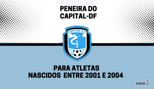 Capital-DF realizará peneira para a equipe sub-20