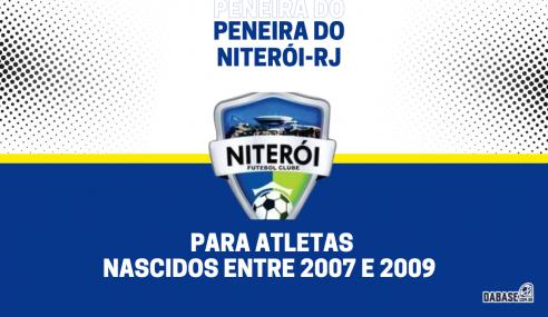 Niterói-RJ realizará peneira para duas categorias
