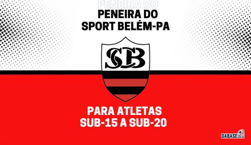Sport Belém-PA realizará peneira para três categorias