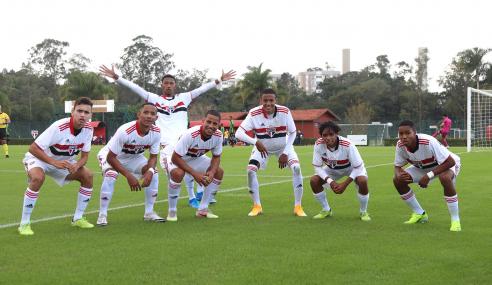 Em jogo de sete gols. São Paulo bate América-MG de virada pelo Brasileirão Sub-17