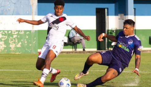 Em jogo de seis gols, Vasco vence São Raimundo-RR e avança na Copa do Brasil Sub-20