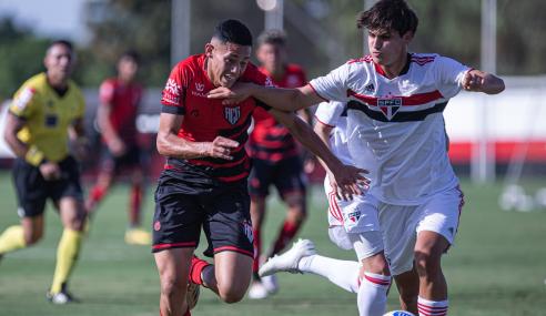 São Paulo deslancha no fim e goleia Atlético-GO pelo Brasileirão Sub-17