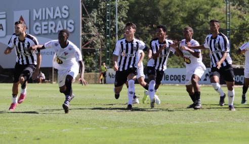 Atlético vira, leva gol no fim e tropeça pela primeira vez no Mineiro Sub-20