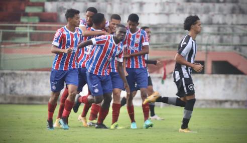 Bahia faz 7 a 2 no Botafogo e vai para última rodada do Brasileirão Sub-17 com chances