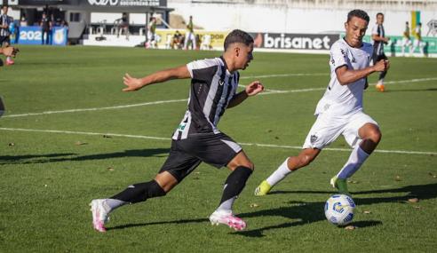 Com gols de pênalti, Ceará e Atlético-MG empatam pelo Brasileirão Sub-20