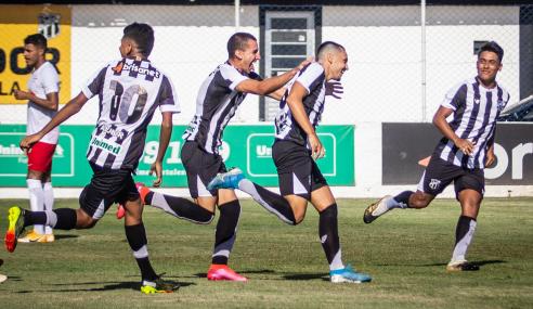 Atual campeão, Ceará supera Red Bull Bragantino em estreia no Brasileirão de Aspirantes