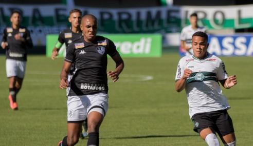 Coritiba e Botafogo empatam no jogo de ida da final da Copa do Brasil Sub-20