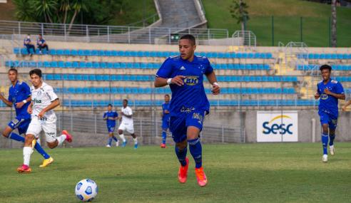 Em jogaço de seis gols, Cruzeiro e Palmeiras empatam pelo Brasileirão Sub-17
