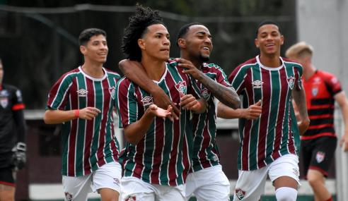 Dupla brilha e Fluminense derrota Atlético-GO pelo Brasileirão Sub-20