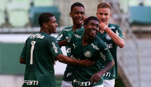 Palmeiras atropela Bahia e assume liderança provisória do Grupo A do Brasileirão Sub-17