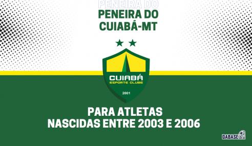 Cuiabá-MT realizará peneira para a equipe feminina sub-18