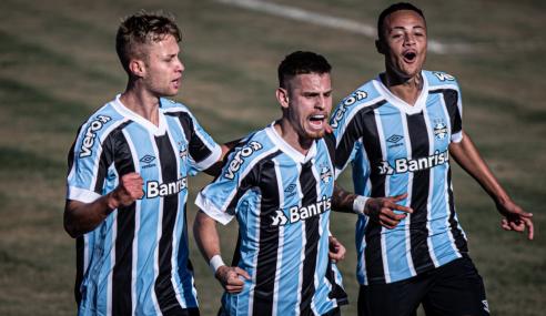 Grêmio goleia Santos em jogo de sete gols pelo Brasileirão Sub-20