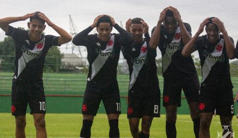 Vasco goleia Fortaleza e garante vaga nas quartas do Brasileirão Sub-17